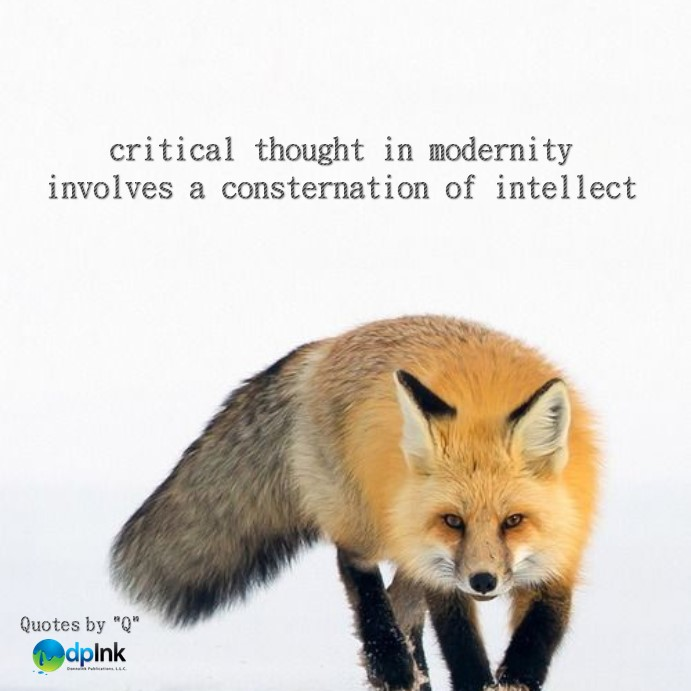 critical thought in modernity