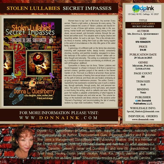 Stolen Lullabies and Secret Impasses by Ms. Donna L. Quesinberry w short bio